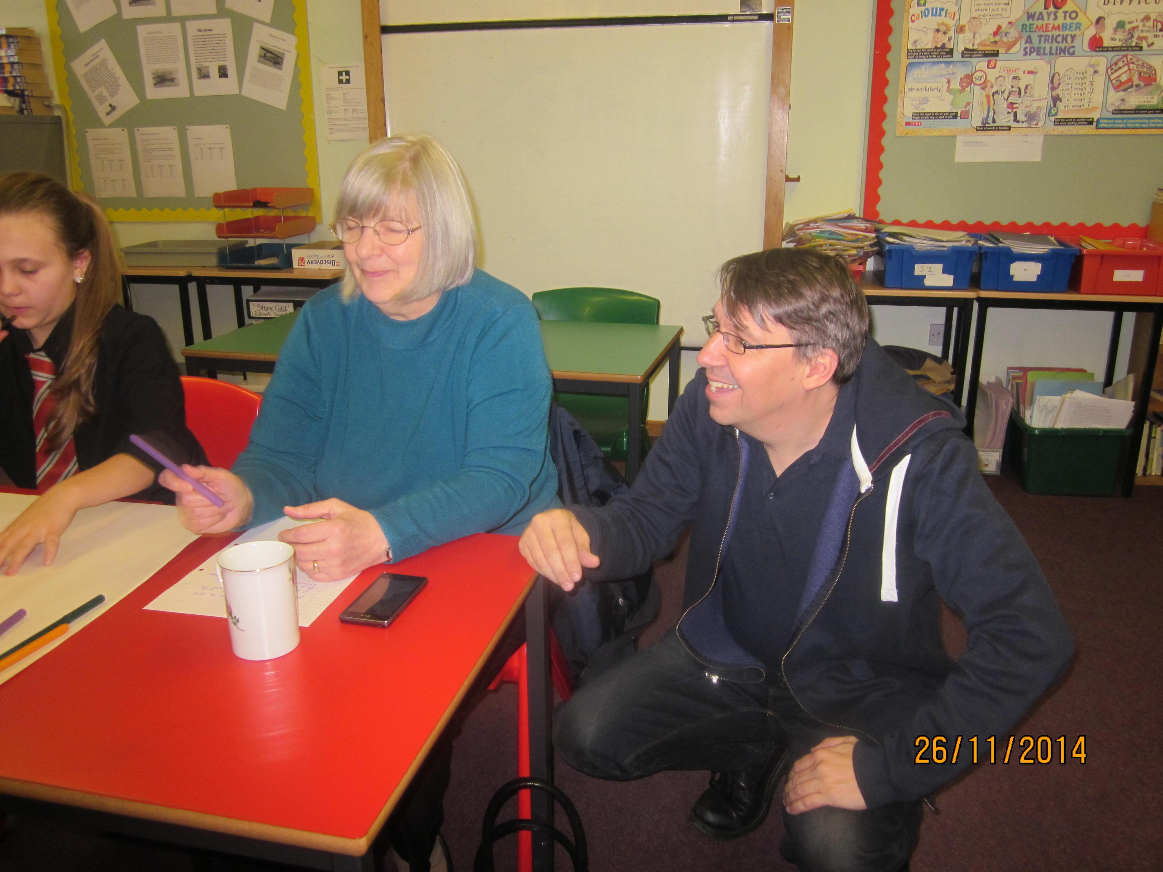 Matthew Fitt and Sheena Wellington visit