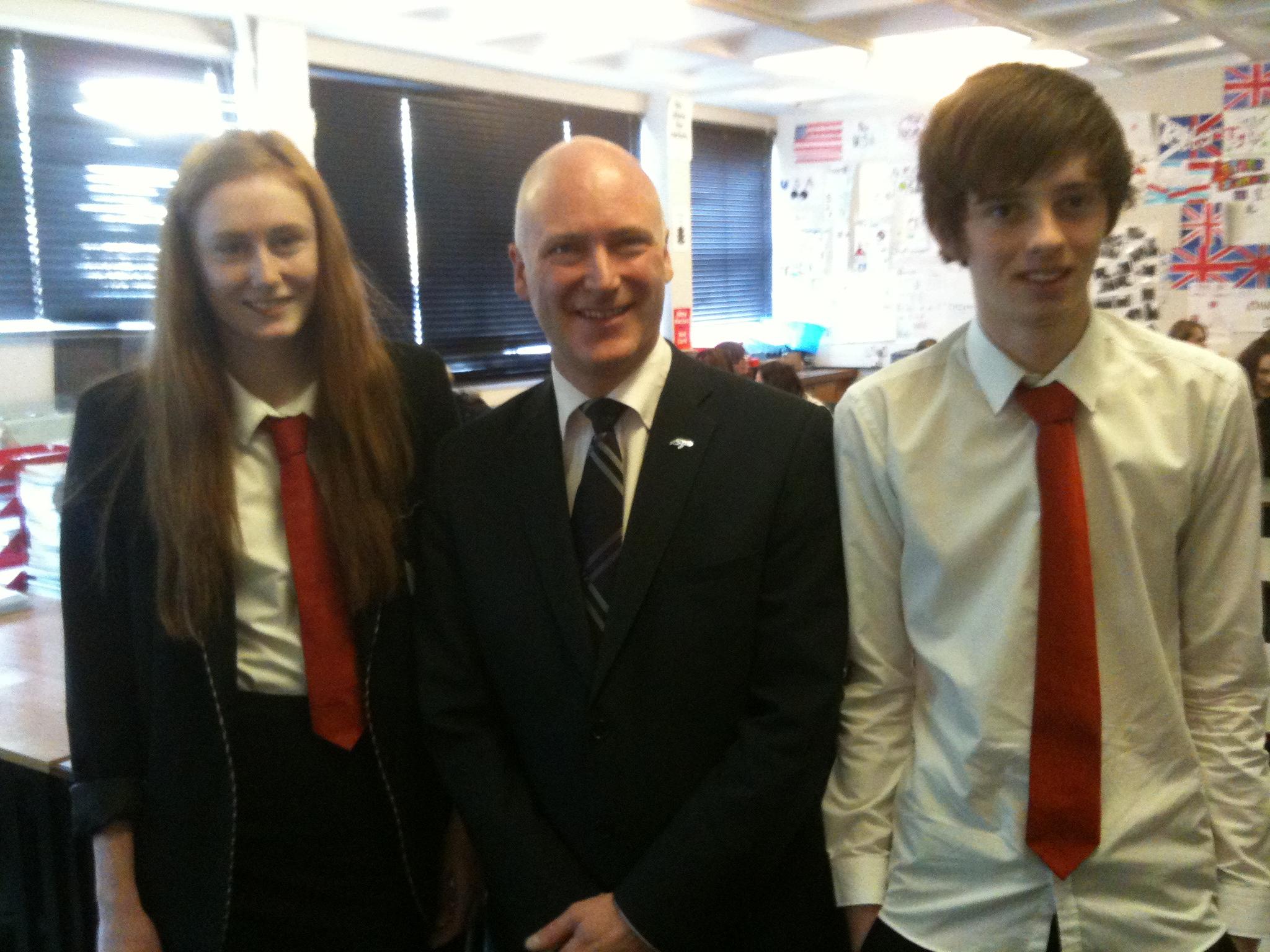 MSP Joe Fitzpatrick visits MHS