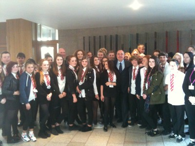 S3 pupils with Alex Salmond