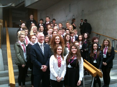 S3 pupils with Joe Fitzpatrick