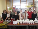 Manning the stall at the Coffee Morning